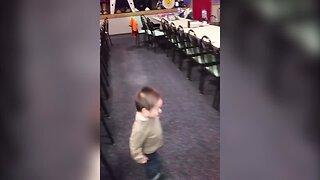 Cute Little Boy Can't Stop Dancing