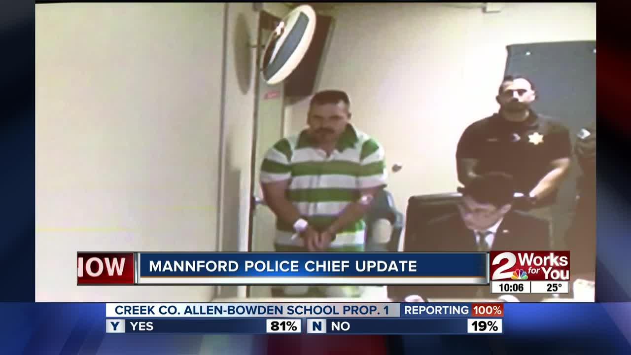 Mannford police chief update
