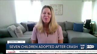 Seven children adopted after crash