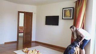 German Shepherd Plays Hide-And-Seek With Owner