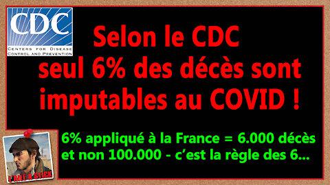 2021/039 Selon le CDC seul 6% des décès sont imputables au covid.