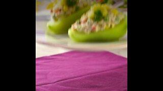 Chayotes Stuffed with Creamy Tuna Salad