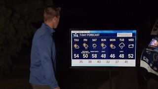 Colder weather moves in Thursday, highs in low 50s