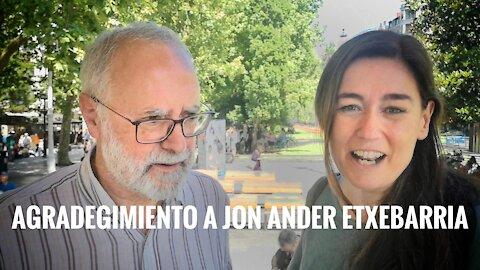 Agradecimiento al biólogo Jon Ander Etxebarria por su labor