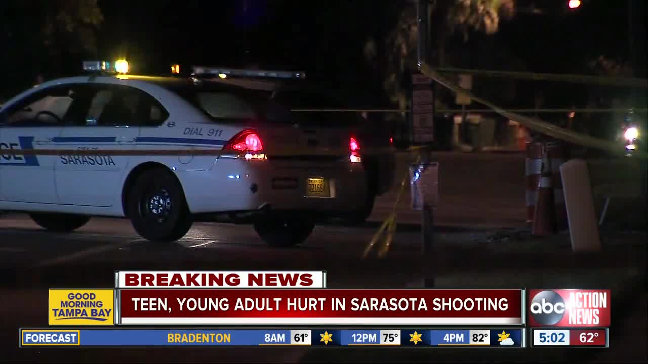Teen, young adult suffer life-threatening injuries in Sarasota shooting, investigation underway