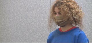 Teen couple accused of killing dad enter pleas in court