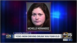 Arizona woman arrested for driving drunk with child in car