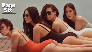 Demi Moore swim campaign with daughters