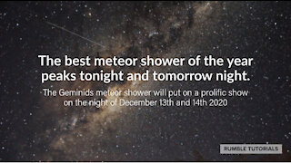 Largest Meteor Shower of 2020 Tonight