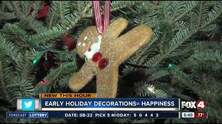 Early holiday decorations