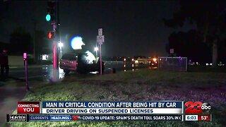 Pedestrian struck by vehicle