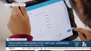 Teachers preparing for virtual learning