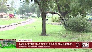 McCormick-Stillman Railroad Park closed after monsoon storm damage