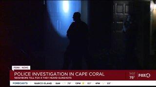 Crime scene in Cape Coral