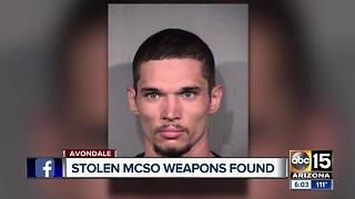 Man arrested for stealing MCSO weapons from a home