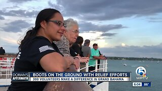 Hundreds of volunteers making a difference in the Bahamas