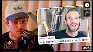 The World Famous PewDiePie Explains to His Viewers why he Stopped Drinking