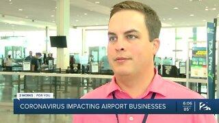 Coronavirus impacting airport businesses