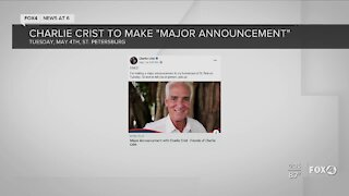 Charlie Crist to make maor announcement tomorrow in St. petersburg