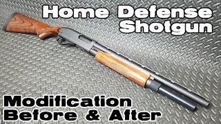 Home Defense Shotgun Modification - Before & After