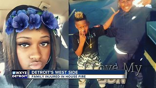 Family injured in house fire on Detroit's west side