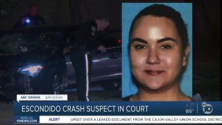 Driver accused in fatal Escondido crash appears in court