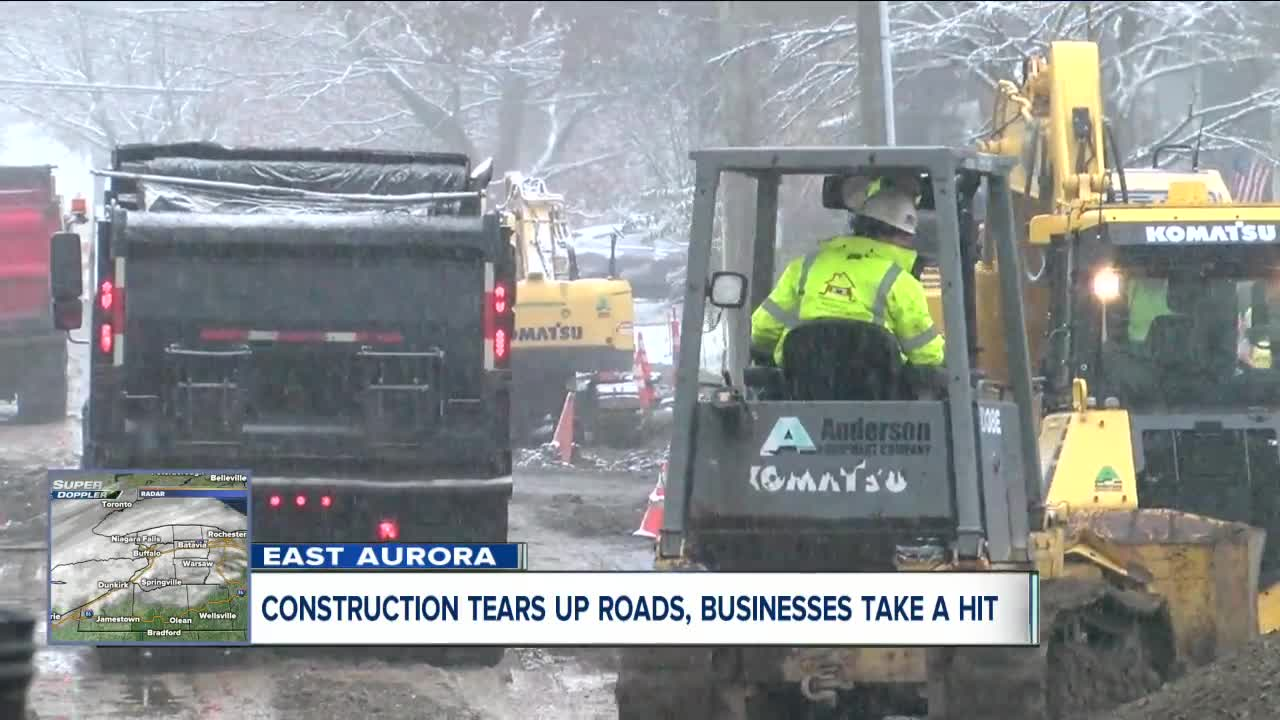 East Aurora construction project takes a toll on local business