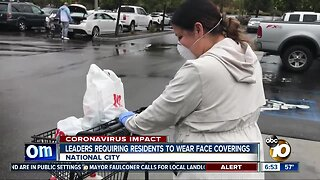 National City requires residents to wear face coverings in public