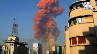 Massive explosion rocks Beirut, eyewitness says