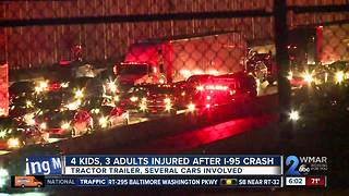 4 children, 3 adults in serious condition after multi-vehicle crash on I-95