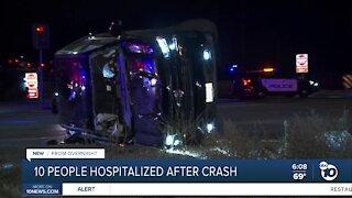 10 hospitalized after crash in Oceanside