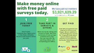Make money online with free paid surveys today.