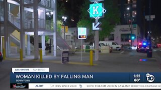 Woman killed by falling man in East Village