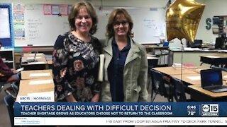 Valley teacher sacrifices job to keep family safe