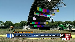 Sunset Music Festival organizers strive to keep people cool and hydrated