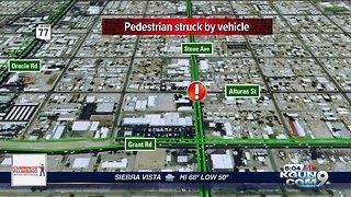 Pedestrian struck on Alturas Street and Stone Avenue