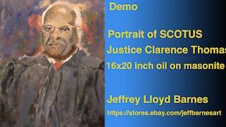 Oil Painting Portrait Demo Justice Clarence Thomas | Jeff Barnes Art