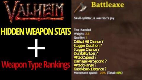 Hidden Weapon Stats + Weapon Type Rankings - Valheim