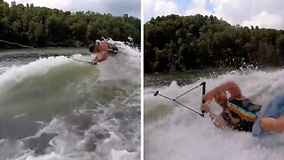 Hilarious Video Shows Wakeboarder Swimming Like A Dolphin