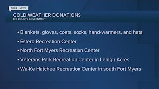 Lee County asking for donations for homeless during the cold weather