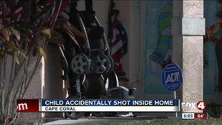 Child accidentally shot inside home