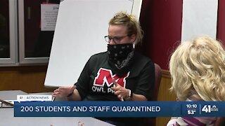 Marshall schools quarantine nearly 200 due to COVID-19