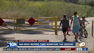 San Diego reopens three reservoirs this weekend