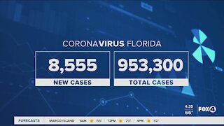 Coronavirus cases in Florida November 25th