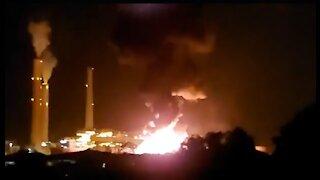 Israel & Palestine conflict scenes BOMBS