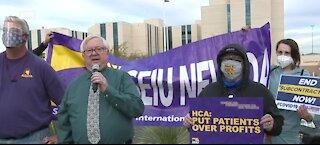 Las Vegas hospital workers 'walkout'