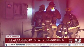 Fire sparks at Arizona Democratic Party headquarters