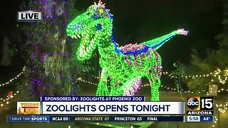 Zoo Lights opens at Phoenix Zoo Wednesday night
