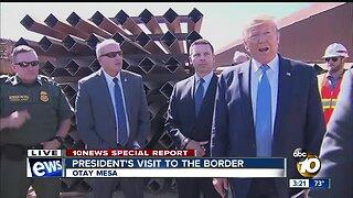 President Trump discuss border barrier technology