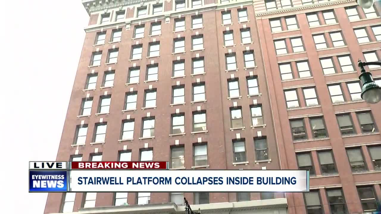 One injured when platform collapses in Buffalo building
